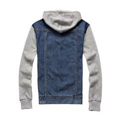 Áo jean khoác ngoài nam có mũ cao cấp – chất Jean tay áo và mũ Nỉ cao cấp hot thu đông 2020 - Được Kiểm Hàng - Được Kiểm Hàng