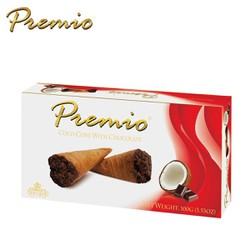 BÁNH ỐC QUẾ DỪA PHỦ SOCOLA COCO CONE WITH CHOCOLATE PREMIO 100 GRAM