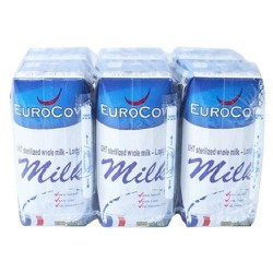 [nhập mã SD2018 giảm 20k] [nhập khẩu Pháp] Thùng 24 hộp sữa tươi Eurocow nguyên kem 200ml không đường