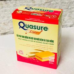 Bánh Bông lan Quasure Light Dâu hộp 126 gam- Cho người tiểu đường, ăn kiêng