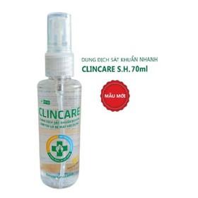 Nước rửa tay sát khuẩn nhanh Clincare 70ml - SP914