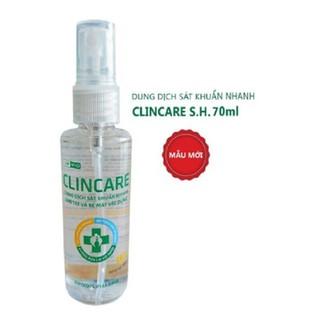 Nước rửa tay sát khuẩn nhanh Clincare 70ml - SP914 thumbnail