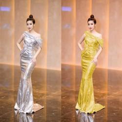Đầm Dạ Hội Kim Da Trễ Vai