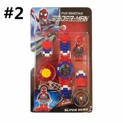 Đồng hồ đồ chơi lắp ráp nhân vật Supper Man
