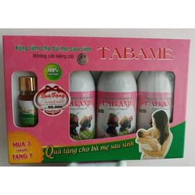 Combo 3 chai nước xông tắm sau sinh TABAME tặng chai xông vùng kín - 025