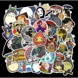 Sticker HOẠT HÌNH NHẬT BẢN TOTORO nhựa PVC không thấm nước, dán nón bảo hiểm, laptop, điện thoại, Vali, xe, Cực COOL #30