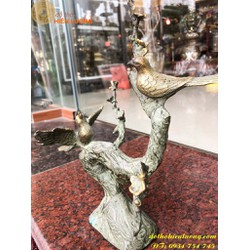 Chim Uyên Ương Phong Thủy Bằng Đồng Cao 30cm