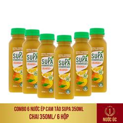 COMBO 6 Chai nước ép cam táo Supa Essentials 350ml