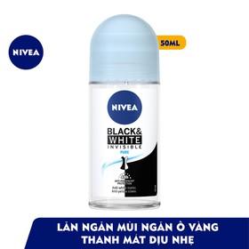 Xã Kho 7 ngày Lăn ngăn mùi Nivea Invisible Pure for Black White giảm vệt ố vàng trên áo thanh mát dịu nhẹ 50ml Bán Sỉ - szdoFdJQY1kxED1XvTJH