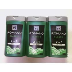 Combo 3 chai Sữa tắm gội Romano Classic 2in1 date 2023