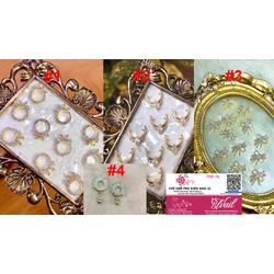 set bộ trang sức kiểu hoa màu bạch kim cao cấp 4 món cực đẹp