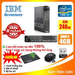 Case máy tính để bàn mini đồng bộ IBM. CPU i3 4130 - RAM 4GB - SSD 240GB - SSD 120GB