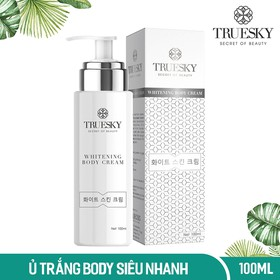 Kem tắm trắng da toàn thân cấp tốc Truesky dạng vòi nhấn Whitening Body Cream 100ml - Mỹ phẩm chính hãng - TRUES_UTRANG