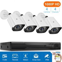 Bộ Camera giám sát KIT AHD Full HD 1080P - Trọn bộ 4 mắt 1080P  Đầu ghi  HDD250G - Full phụ kiện Để khách tự lắp [ĐƯỢC KIỂM HÀNG] [ĐƯỢC KIỂM HÀNG]