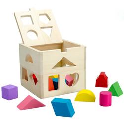 Đồ chơi hộp gỗ thông minh hình học
