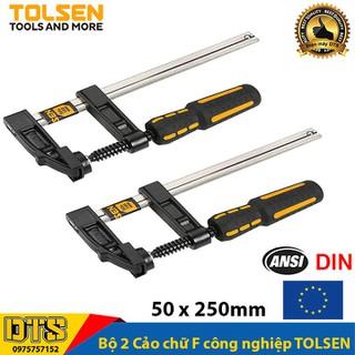 Bộ 2 Cảo chữ F công nghiệp cán nhựa 50 x 250mm TOLSEN - Tiêu chuẩn xuất khẩu Châu Âu - Vam kẹp gỗ chữ F - 2x10163 thumbnail