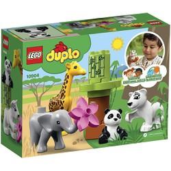 [LEGO CHÍNH HÃNG] 10904 - Bộ 4 Thú Cưng Hoang Dã của Bé - LEGO DUPLO Town Baby Animals 10904