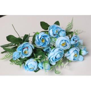 Hoa lụa Một nhánh hoa hồng trà xanh - nhanhhoahongtraxanh thumbnail