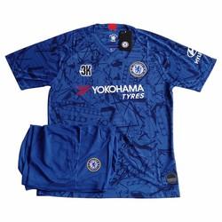 Áo đá banh loại tốt Chelsea xanh 2020 1 bộ