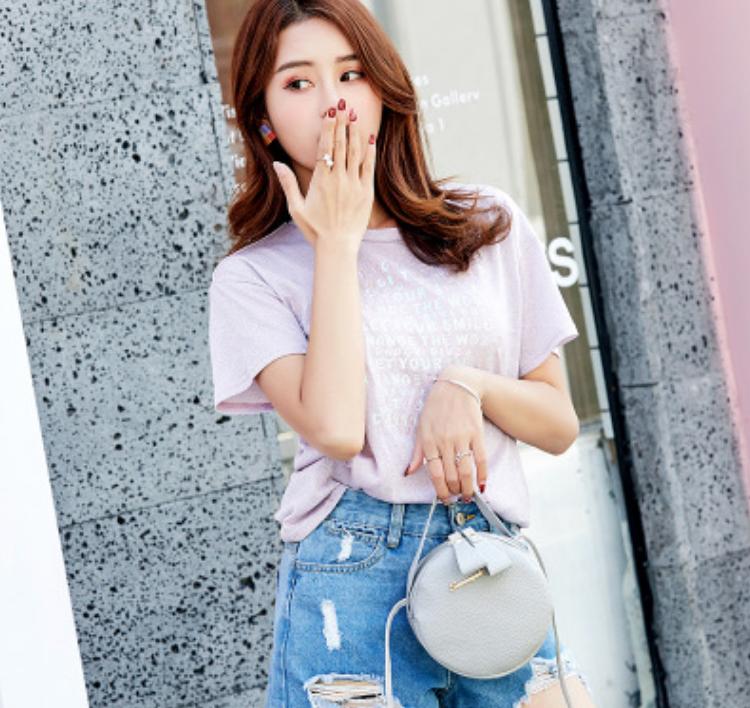 Túi nữ thời trang Sunnycity dạng tròn 5 màu tuyệt đẹp plus