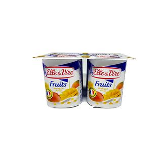 Sữa Chua Trái Cây Vị Xoài HIỆU Elle & Vire HỘP 125g - M348 thumbnail