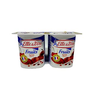 Sữa Chua Trái Cây VỊ Anh Đào HIỆU Elle & Vire HỘP 125g - M346 thumbnail