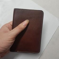 Ví Passport - Da bò xịn - Đồ da thủ công - Màu nâu BV0436