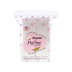 Bông tẩy trang điểm Puffme Organic bịch 90 miếng