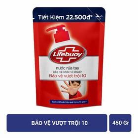 Nước rửa tay Lifebuoy bảo vệ vượt trội túi 450g - tui500