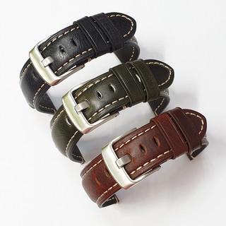 Dây da đồng hồ nam, dây da smart watch dây da bò thật mềm lớp lót không thấm hút mồ hôi - D2007 - D2007 thumbnail