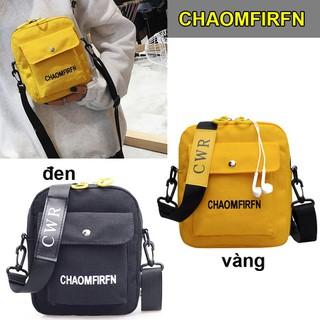 Túi Vuông Cho Nữ Thời Trang, Túi Có lỗ tai nghe điện thoại, 2 màu ĐEN VÀNG - CHAO thumbnail