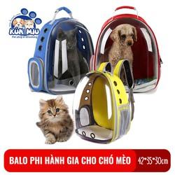 Balo phi hành gia trong suốt Kún Miu vận chuyển chó mèo an toàn, tiện lợi