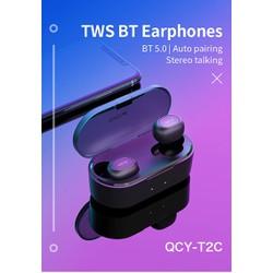 Tai Nghe Không Dây Bluetooth 5.0 True Wireless QCY-T2C - Cảm Ứng - Đàm Thoại - Chống Ồn - Hàng Chính Hãng