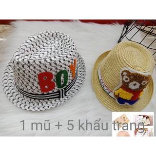 combo mũ và 5 khẩu trang xô cho bé - mũ và 5 khẩu trang xô thumbnail