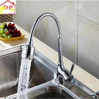 [Hỗ trợ vận chuyển] Vòi rửa bát nóng lạnh cao cấp cần mềm 2 chế độ nước VRB08 tặng kèm đôi dây cấp inox - TIkOaYUI4M thumbnail