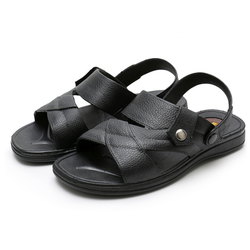 Dép sandal nam màu đen ngôi sao ba cánh size 40 đến 44
