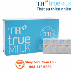DATE 07-2020 Sữa Tươi TH True Milk Không Đường 180ml Nguyên Chất