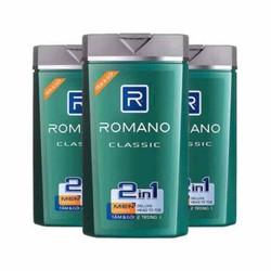 Combo 3 chai Sữa tắm gội Romano Classic 2in1 mẫu mới date 2023