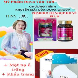 Combo 2 Hộp Tố Ngọc Hoàn Plus   Tặng Khẩu Trang Và Mặt Nạ Ủ Trắng  Nâng Cơ Collagen