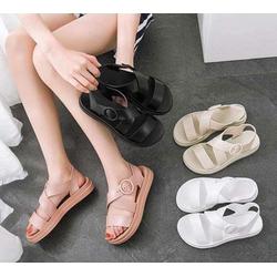 Giày Sandal Giày Nữ Quai Ngang Nữ Giày Quai Hậu Đế Bằng Nữ Phong Cách Nữ Sinh Ngọt Ngào 1801