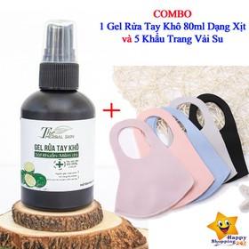 [Tặng Kèm 5 Khẩu Trang Vải Su] Nước Rửa Tay Khô Khử Trùng - Chống Khuẩn CORONA - COMBO Gel5