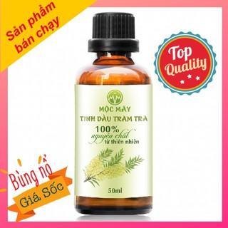 Tinh dầu tràm trà Úc - tea tree oil - 50ml nguyên chất cao cấp Mộc Mây - chuyên trị mụn siêu tốc - tinh dầu nguyên chất từ thiên nhiên - Có kiểm định bộ y tế, chất lượng và mùi hương vượt trội - tinhdautramtra50ml thumbnail