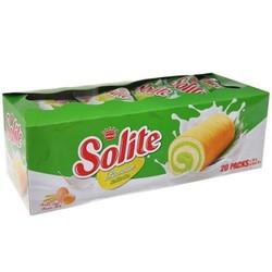 Bánh bông lan cuộn kem vị lá dứa Solite hộp 360g - 20 cái