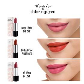Son thỏi Miracle Apo x Chloe Nguyễn Holiday Collection Lipstick 4g - son thỏi chloe nguyễn