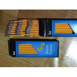 Hộp 24 chiếc bút chì gỗ 2HB hàng Việt Nam xuất khẩu