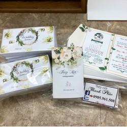 COMBO 100 thiệp cưới bao gồm in nội dung đầy đủ