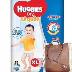 [Tặng túi xách da Huggies cho mẹ] Tã quần và dán Huggies M74-L68-XL62-XXL56