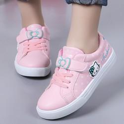 Giày thể thao bé gái Hello Kitty đính kèm nơ xinh xắn