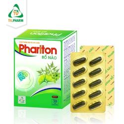 Thực phẩm bảo vệ sức khỏe PHARITON BỔ NÃO - Hỗ trợ giảm đau đầu, chóng mặt, suy giảm trí nhớ, mất ngủ (30 viên)