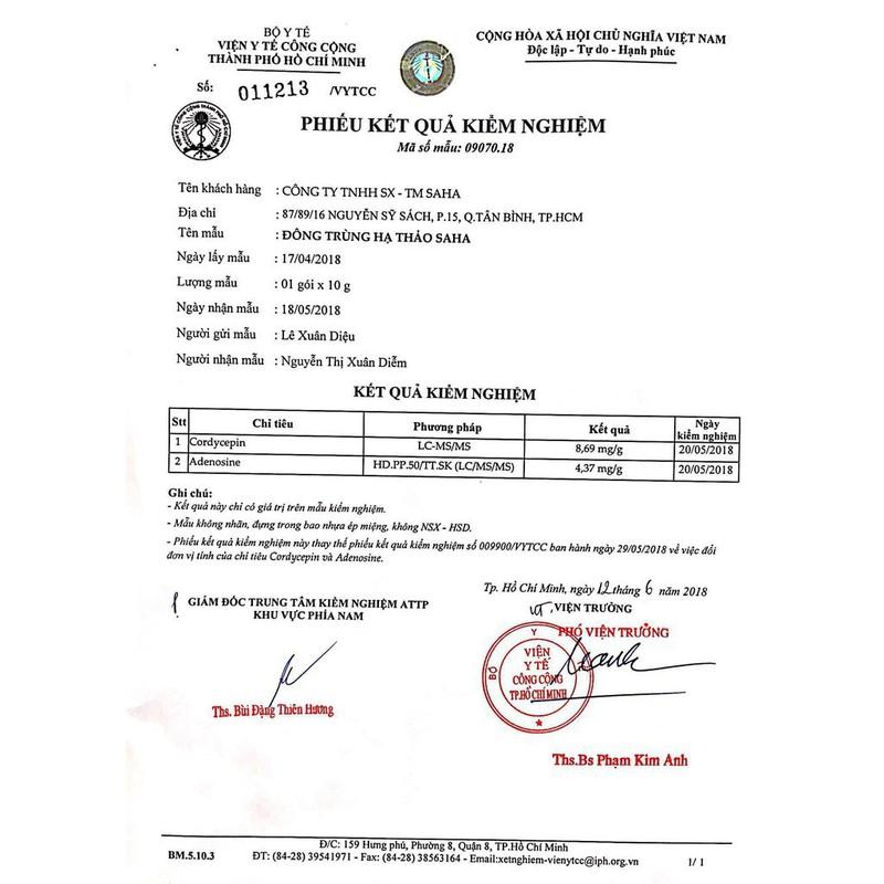 Trà Đông trùng hạ thảo SaHa 6g – 5511343572
